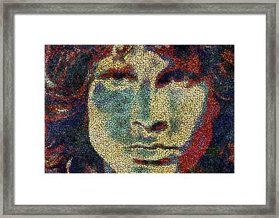 Doors Jim Morrison  Framed Print by Jack Zulli