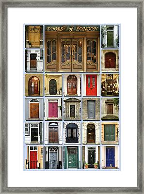 Doors Of London Framed Print by Heidi Hermes