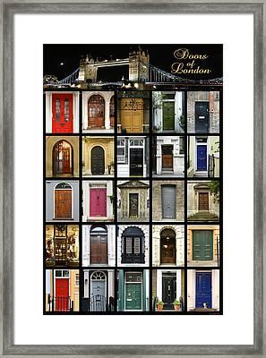 Doors Of London II Framed Print by Heidi Hermes