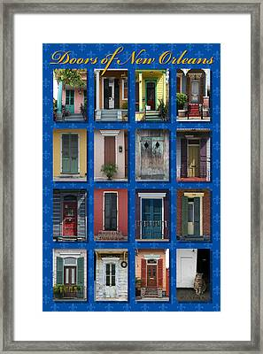 Doors Of New Orleans Framed Print by Heidi Hermes