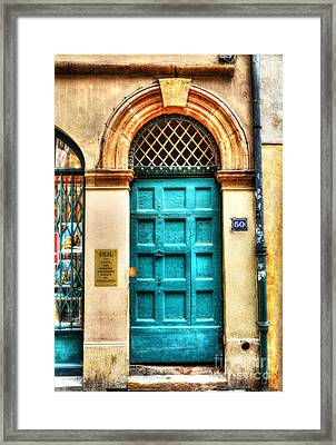 Doors Of Old Lyon Framed Print by Mel Steinhauer