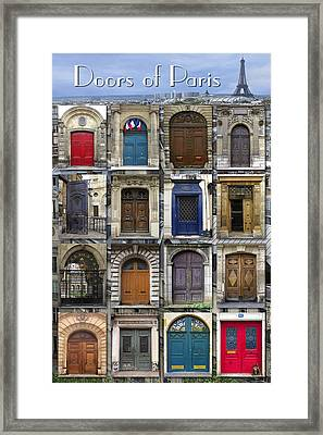 Doors Of Paris Framed Print by Heidi Hermes