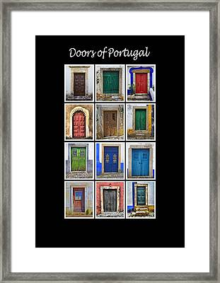 Doors Of Portugal Framed Print by David Letts