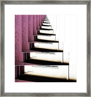 Doorsteps To Nowhere Framed Print by Angelika Sauer