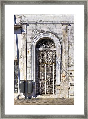 Doorway To Elegant Decay In Mexico Framed Print by Mark E Tisdale