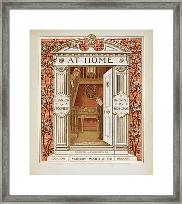 Doorway With Boy And Girl Within Framed Print by British Library