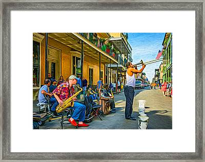 Doreen's Jazz New Orleans - Paint Framed Print by Steve Harrington