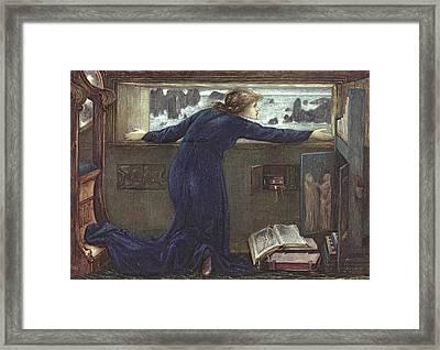 Dorigen Of Bretaigne Longing For The Safe Return Of Her Husband Framed Print by Sir Edward Coley Burne-Jones