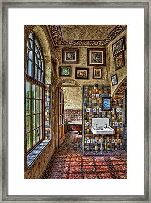 Dormer Bath Room Framed Print by Susan Candelario