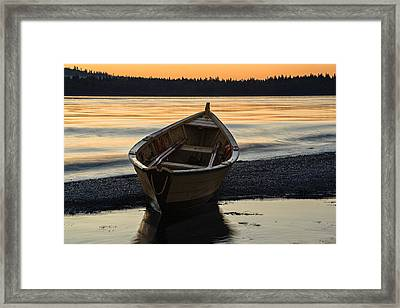 Dory At Dawn Framed Print by Marty Saccone