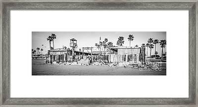 Dory Fish Market Newport Beach Panorama Photo  Framed Print by Paul Velgos