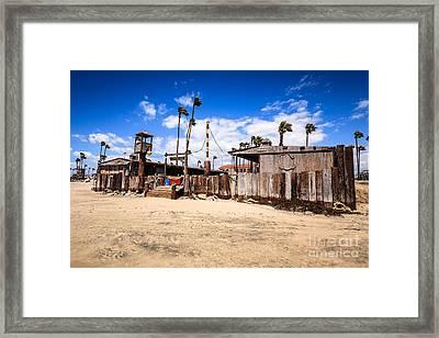 Dory Fishing Fleet Market In Newport Beach California Framed Print by Paul Velgos