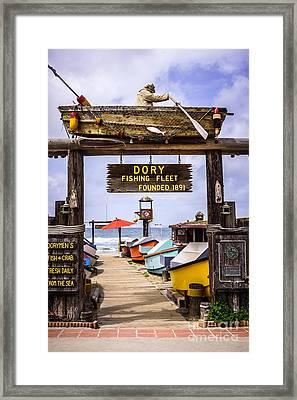 Dory Fishing Fleet Market Newport Beach California Framed Print by Paul Velgos