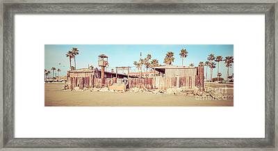 Dory Fishing Fleet Market Newport Beach Panorama Framed Print by Paul Velgos