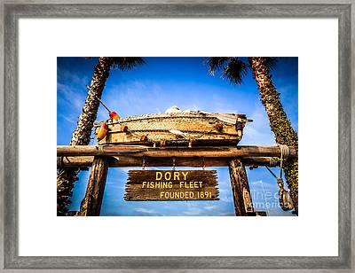 Dory Fishing Fleet Picture Newport Beach California Framed Print by Paul Velgos