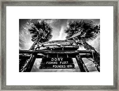 Dory Fishing Fleet Sign Picture In Newport Beach Framed Print by Paul Velgos