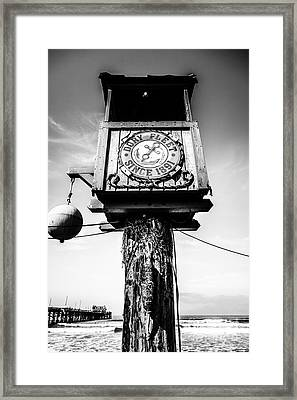 Dory Fleet Crow's Nest Black And White Picture Framed Print by Paul Velgos