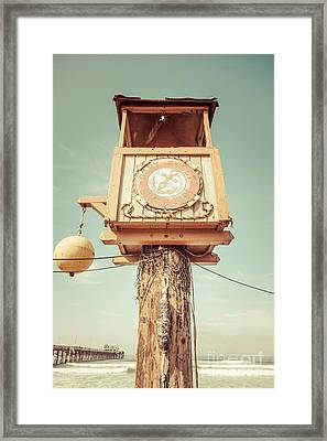 Dory Fleet Newport Beach Retro Picture Framed Print by Paul Velgos