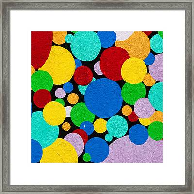 Dot Graffiti Framed Print by Art Block Collections