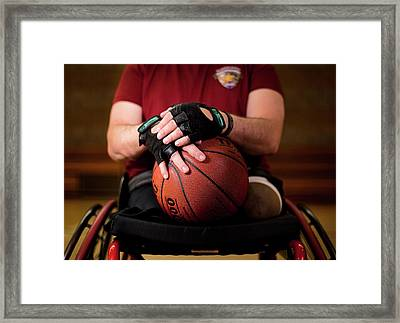 Double Amputee Basketball Athlete Framed Print by Us Air Force/mark Fayloga