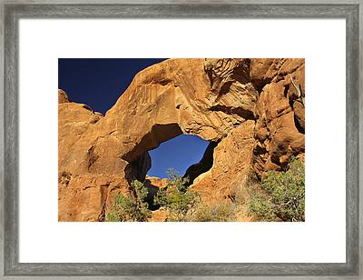 Double Arch - Backside Framed Print by Mike McGlothlen