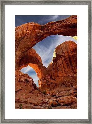 Double Arch - Utah Framed Print by Mike McGlothlen