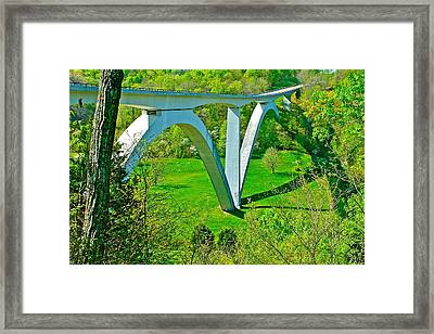 Double-arched Bridge Spanning Birdsong Hollow At Mile 438 Of Natchez Trace Parkway-tennessee Framed Print by Ruth Hager
