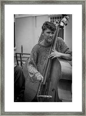 Double Bass Player Framed Print by David Morefield