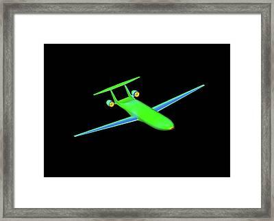 Double Bubble D8 Aircraft Simulation Framed Print by Nasa/ames (shishir Pandya)