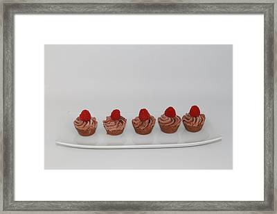 Double Chocolate Cheesecakes Framed Print by Ash Sharesomephotos