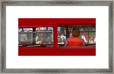 Double Decker Framed Print by Tom Dickson