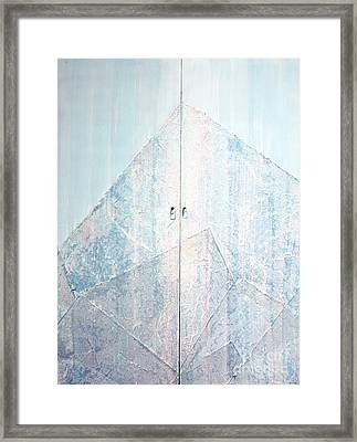 Double Doors To Peaceful Mountain Framed Print by Asha Carolyn Young