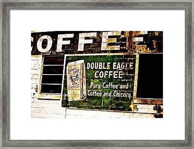 Double Eagle Coffee Framed Print by Scott Pellegrin
