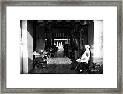 Double Entry At Cafe Du Monde Mon Framed Print by John Rizzuto