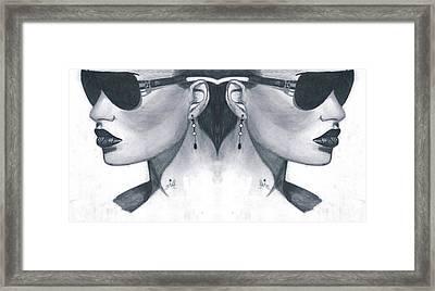 Double Face Framed Print by Bobby Dar