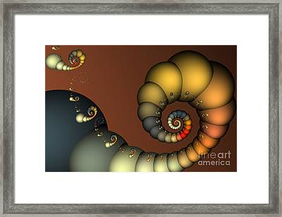 Double Loop Framed Print by Karin Kuhlmann