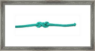 Double Overhand Stopper Knot Framed Print by Photostock-israel