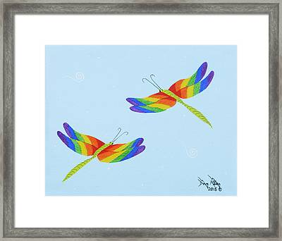 Double Rainbow 1 Framed Print by Doug Miller