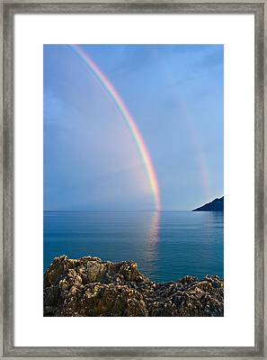 Double Rainbow Framed Print by Christos Andronis