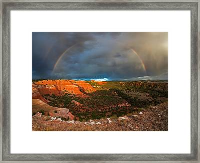 Double Rainbow Framed Print by Leland D Howard
