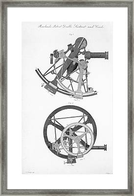 Double Sextant And Double Circle Framed Print by Royal Astronomical Society