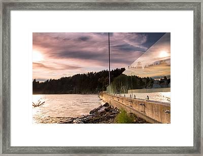 Double The Sunset Framed Print by Eti Reid
