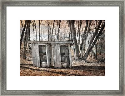 Double Trouble Framed Print by Lori Deiter