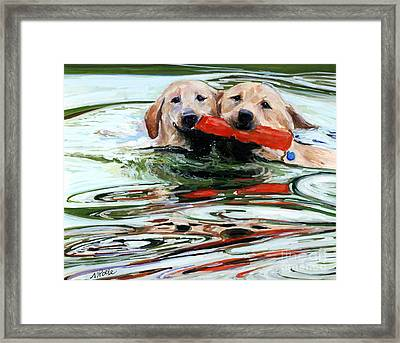 Doublemint Framed Print by Molly Poole