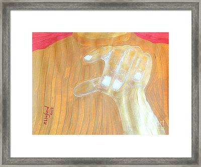 Doubting Thomas My Lord And My God 1 Framed Print by Richard W Linford