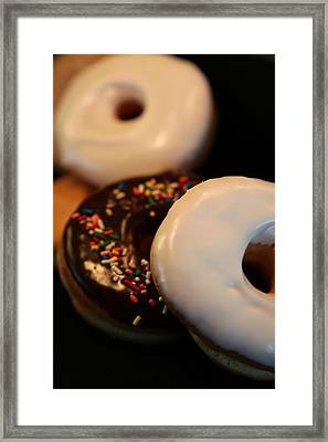 Doughnut Roll Framed Print by Karen Wiles