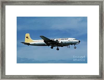Douglas Dc-6bf  Landing  N95bl Apa Framed Print by Wernher Krutein