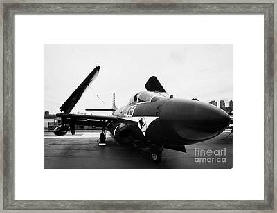 Douglas F3d 2 F3d2 Skyknight On Display On The Flight Deck At The Intrepid Sea Air Space Museum Framed Print by Joe Fox