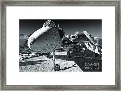 Douglas Skyhawk A-4b - Black And White Framed Print by Gregory Dyer