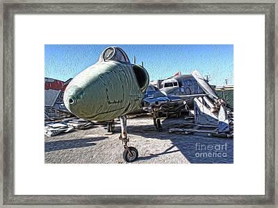 Douglas Skyhawk A-4b Framed Print by Gregory Dyer
